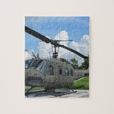 Vintage Vietnam Uh-1 Huey Military Helicopter Jigsaw Puzzle