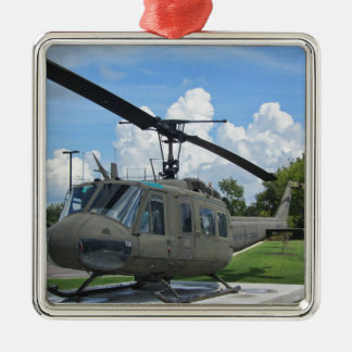 Vintage Vietnam Uh-1 Huey Military Helicopter Metal Ornament
