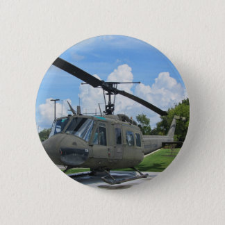Vintage Vietnam Uh-1 Huey Military Helicopter Pinback Button