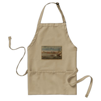 Vintage View of Ft. George with New York City Adult Apron