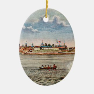 Vintage View of Ft. George with New York City Ceramic Ornament