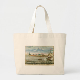 Vintage View of the City of New York from the SW Canvas Bags