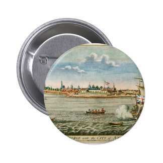 Vintage View of the City of New York from the SW Pins