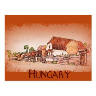 Vintage Village of Hungary Postcard