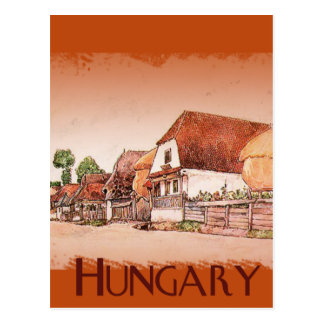 Vintage Village of Hungary Postcard