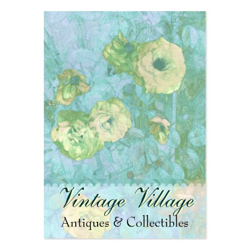 Vintage Village Yellow Roses Business Card