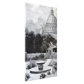 Vintage Villas & Gardens: The Dome of St. Peter's Canvas Print