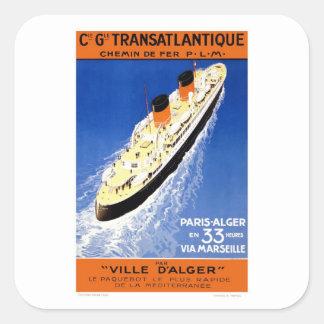 Vintage Ville D Alger Square Stickers