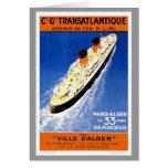 Vintage Ville D'Alger Greeting Card
