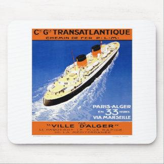 Vintage Ville D'Alger Mouse Pad