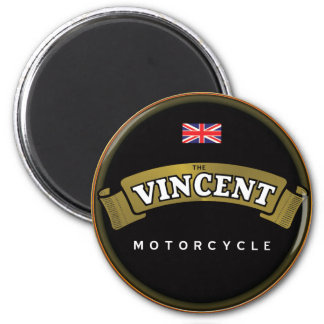 Vintage Vincent Motorcycles 2 Inch Round Magnet