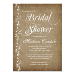 "Vintage Vines Rustic Bridal Shower Invitations 4.5"" X 6.25"" Invitation Card"