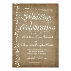 Vintage Vines Rustic Country Wedding Invitations Personalized Announcement