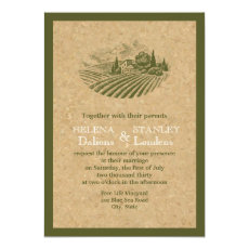 Vintage vineyard and cork beige, red wedding 5