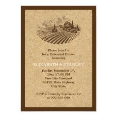 Vintage vineyard and cork wedding rehearsal dinner 5