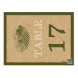 Vintage vineyard and cork wedding table number post card
