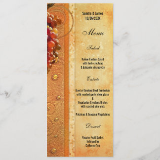 Vintage Vineyard or Wine Theme Menu Card