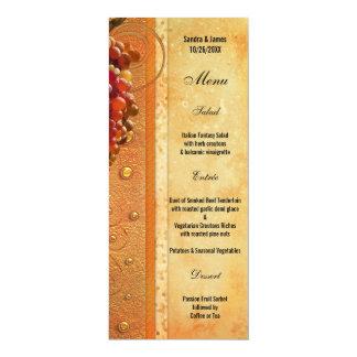 Vintage Vineyard or Wine Theme Menu Card