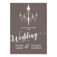 Vintage Vintage Chandelier Wedding Invitation