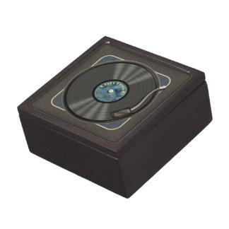 Vintage Vinyl Record Jewelry Box