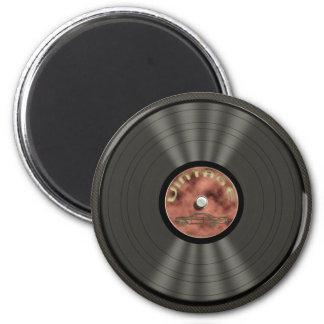 Vintage Vinyl Record Magnet