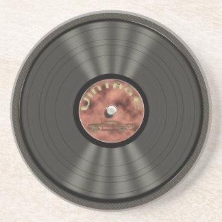 Vintage Vinyl Record Sandstone Coaster