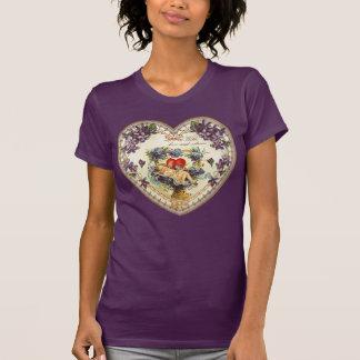 Vintage Violet Angel Valentine's Day Heart Shirt