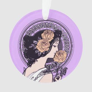 Vintage violet art nouveau