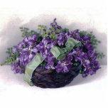 Vintage Violet Basket Photo Cut Out