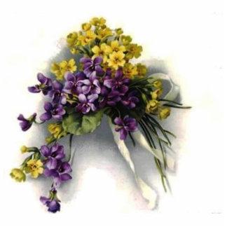 Vintage Violet Bouquet Photo Cutouts
