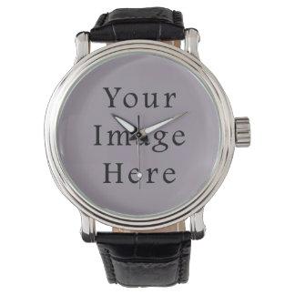 Vintage Violet Light Purple Color Trend Template Wristwatch