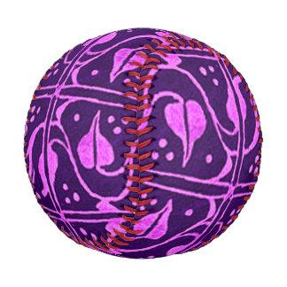Vintage Violet Purple Leaf Vines Baseball
