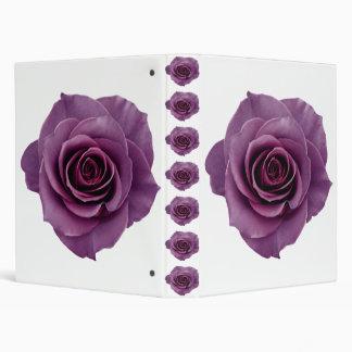 vintage violet rose elegant chic flower beautiful vinyl binders