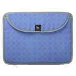 Vintage violeta azul del Grunge de la acuarela de  Fundas Para Macbook Pro