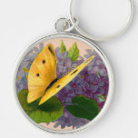 Vintage Violets and Butterfly Key Chains