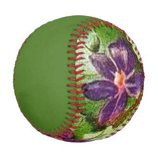 Vintage Violets Flower Baseball