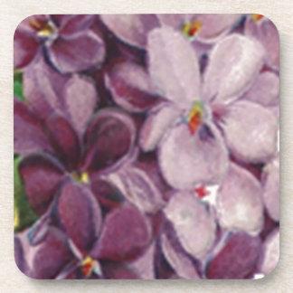 Vintage Violets Nosegay Bouquet Cork Coaster