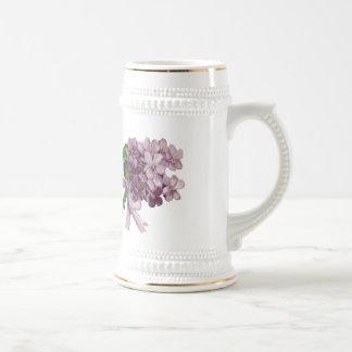 Vintage Violets Nosegay Bouquet Stein Mug