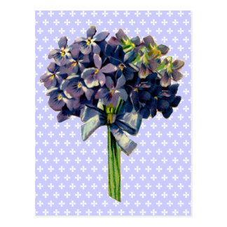 Vintage Violets Post Card