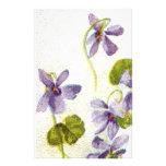 Vintage Violets Stationery