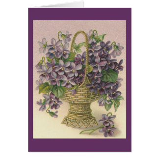 Vintage Violets - Thinking of You Card