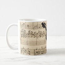 Vintage Violin and Sheet Music Mug