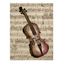 Vintage Violin and Sheet Music