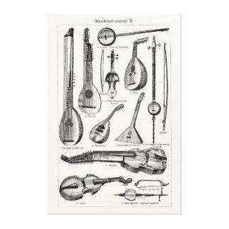 Vintage Violin Cello String Musical Instruments Canvas Print