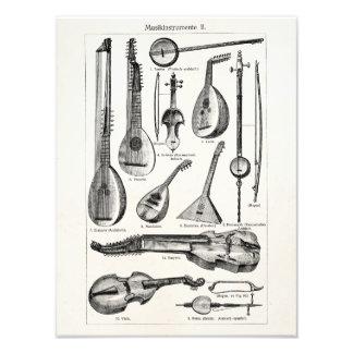Vintage Violin Cello String Musical Instruments Art Photo