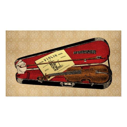 Vintage Violin Illustration Business Card