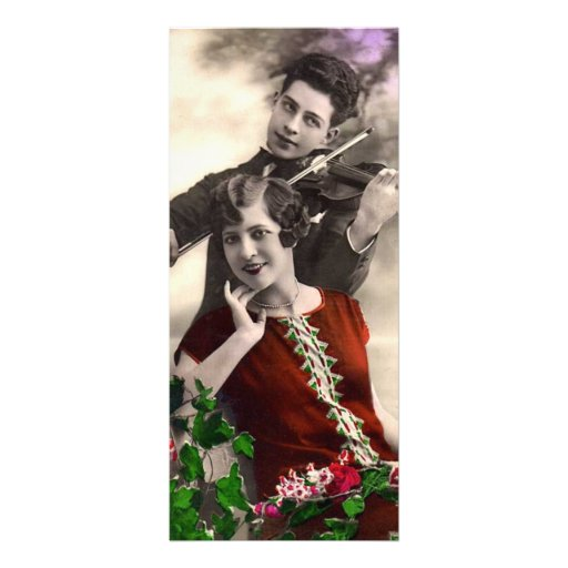 Vintage - Violin Romance Personalized Rack Card