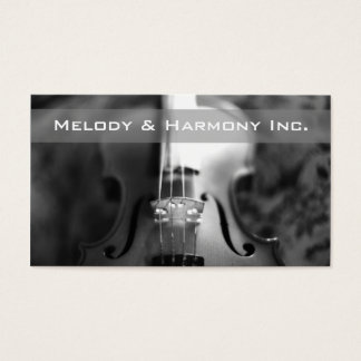 Vintage Violin Strings Music Lessons Business Card