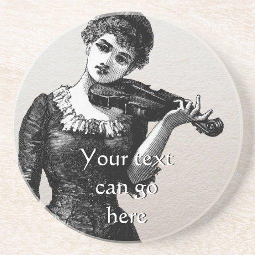 Vintage Violinist Coaster