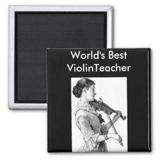 Vintage Violinist Fridge Magnets
